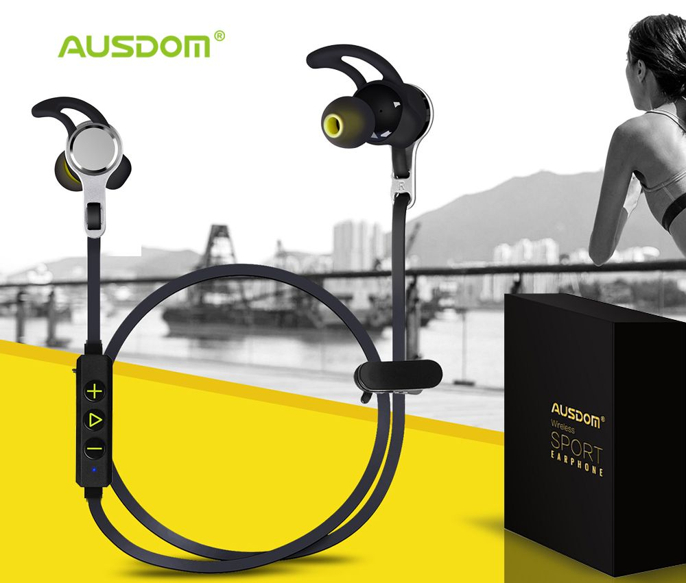 Ausdom SM199 Bluetooth Earphone Sport Wireless Headphones Airpods Stereo Deep Bass Headset Handsfree with Mic 4000 Hours Standby