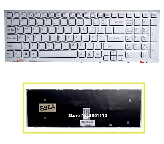 SSEA New US Keyboard white for Sony vaio VPC-EB VPCEB VPC EB VPCEB36FG  laptop Keyboard