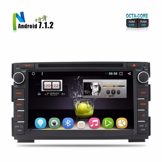 8 Core CPU Android 7.1 Two 2 Din In Dash Car DVD For Ceed 2010 2011 2012 Venga Auto Radio RDS GPS Navigation 2GB RAM 32GB ROM