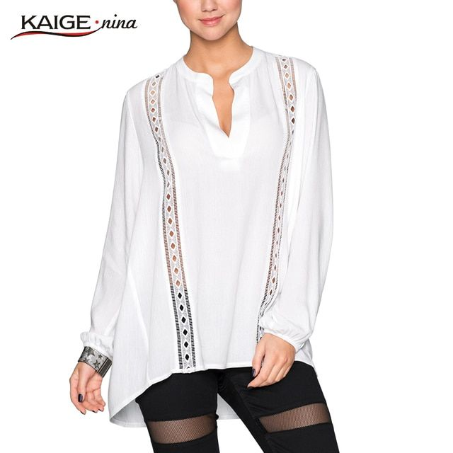 Blouse Women Tops Autumn Women Office Pure Colour Hollow Out Blouse Plus Size Women Casual Clothing Lady Shirts Tops BLUSAS98015