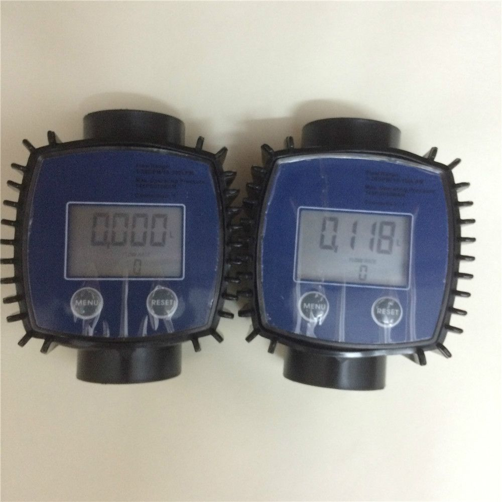 2 pcs K24  Plastic Diesel Fuel electronic magnetic turbine oil wireless water flow meter