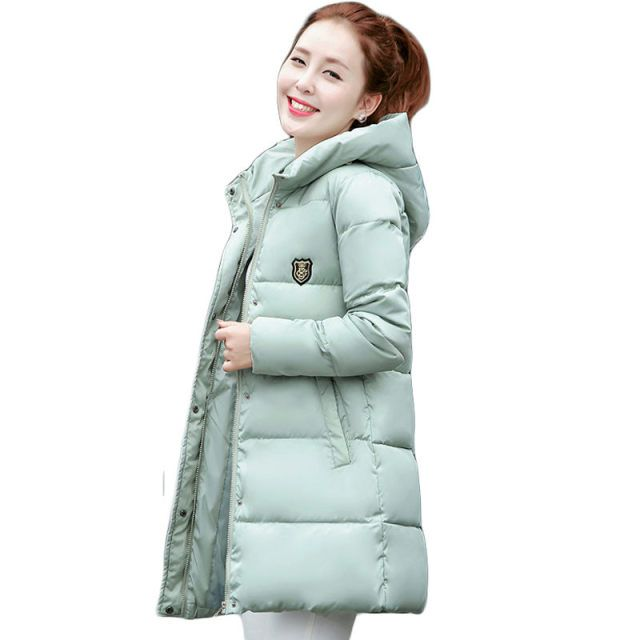 2016 New Korean Winter Women Coat Elegant Pure color Thick Warm Hooded Down Cotton Jacket High quality Large size Women Coat