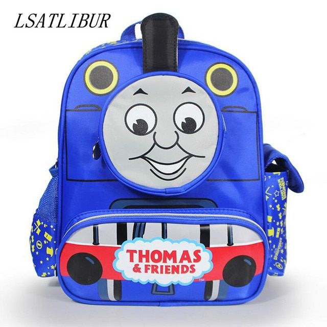 HOT SALE 2017 cute children cartoon bag school bag pattern Thomas children backpacks lovely bady school  bag free shipping