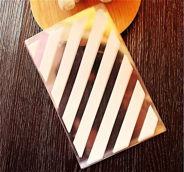 300pcs/lot-10x16cm  White Stripes style flat pocket biscuit candy pastry bag party wedding Gift bag DIY baking packaging bags