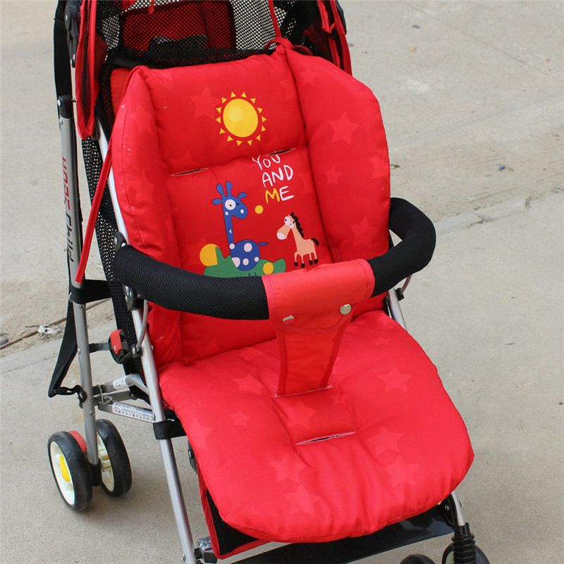 Baby Stroller Cushion Soft Cotton Thick Stroller Mat Children Cartoon Giraffe Cart Seat Cushion Pushchair Stroller Accessories