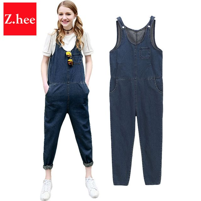 Classic Thin Denim Overall Jeans Women jumpsuit Tight High Waist Denim Overall jumpsuit For Women Overall Jeans