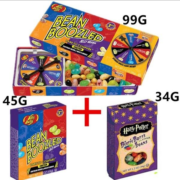 3box sets Bean Boozled Harry Potter jelly Beans Crazy Sugar Magic Beans Boozled Snack Sweet Confection Candy food