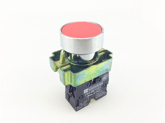 1pcs/Lot XB2 BA42 XB2-BA42 Red Self-reset Momentary Flush Pushbutton 1 N/C Flat Push Button Switch Replace Telemecanique