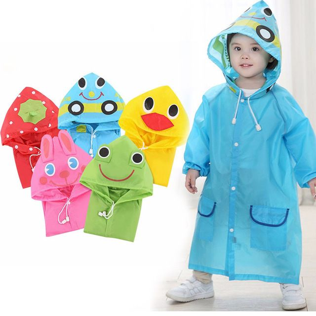 1PC Cartoon Animal Style Waterproof Kids Raincoat For Children Rain Coat Rainwear/Rainsuit Student Poncho Drop Shipping