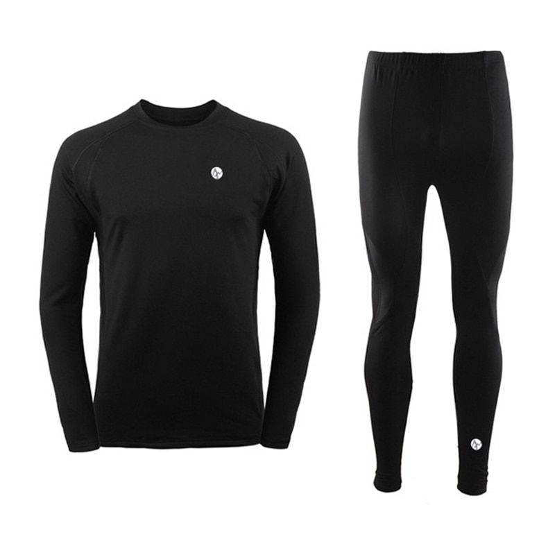 Winter Sports Thermal Underwear Set Winter Warm Cycling Long Sleeves Men Top Pants Cycling Base Layers