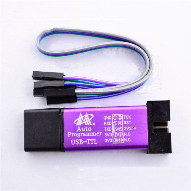 USB-TTL Auto Programmer MCU STC 51 Microcontroller Downloader / 3.3V 5V Universal / Dual Voltage USB to TTL DownLoad Cable