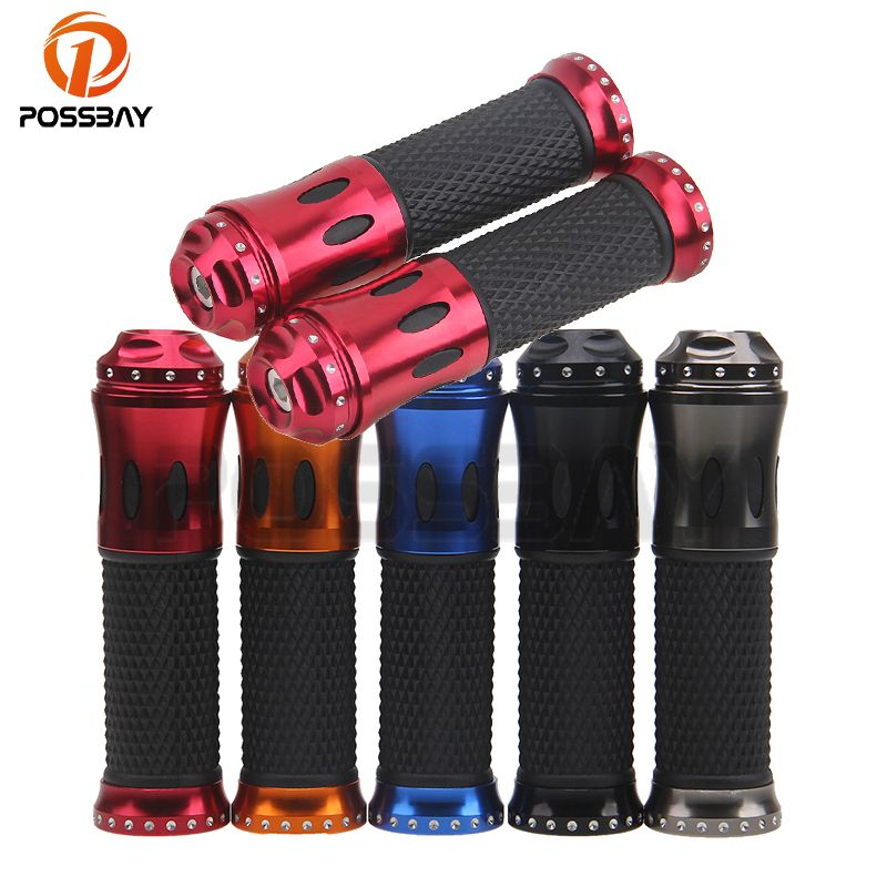 POSSBAY Universal 22mm Rubber Handle Bar Hand Grips for Pit Dirt Bike Motorcycle Handle Bar Hand Grip Handlebar Hand Grips