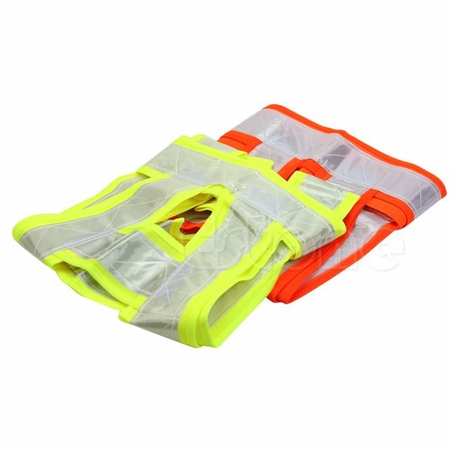 Hi Visibility Safety Jacket Zipped Vest Waistcoat Workwear Reflective Hi Vis Viz