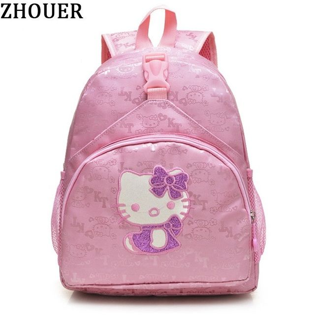 Cute Hello Kitty Children's Backpack Girls Animation Cartoon Autobots School Bags For Girls Primary Students Backpacks FY160