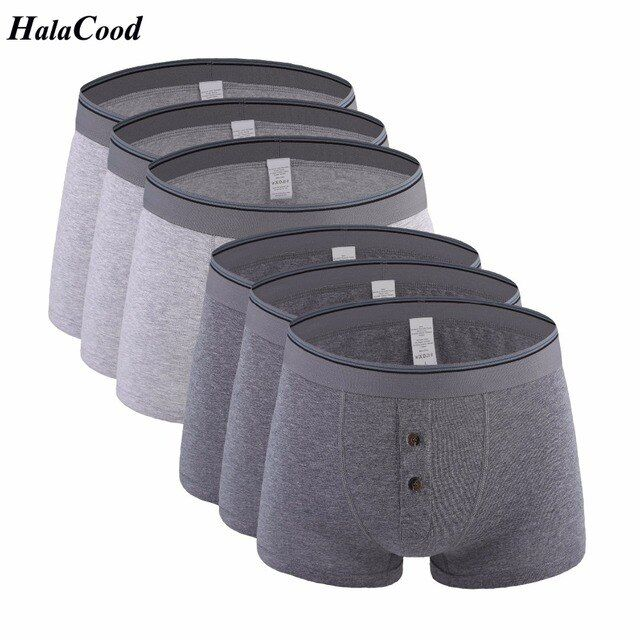 6Pcs/lot Hot Sell New Male Cotton Quality Brand Korean Fashion Sexy Men's Boxers Shorts Male Underpant Mans Underwears Large Fat