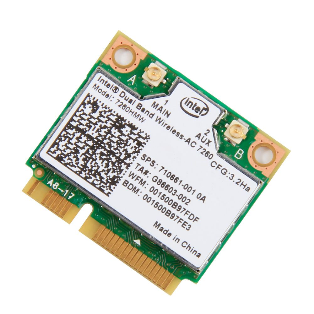 Fenvi New For Intel Dual band 7260 7260HMW 802.11ac Wireless AC +Bluetooth BT4.0 867Mbps wireless wifi Half Mini PCI-E Wlan card