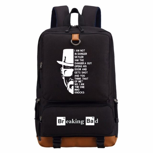 WISHOT Breaking Bad  backpack schoolbag casual backpack teenagers Men women's  travel Shoulder Bag Laptop Bags
