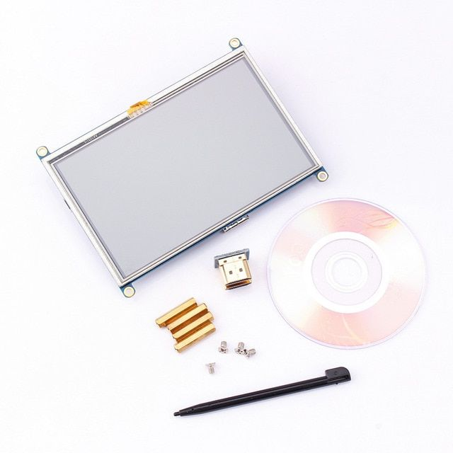 "5 inch 800x480 Touch LCD Screen 5"" Display mini PC For Raspberry Pi Cubieboard Marsboard"