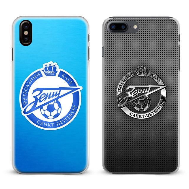 FC Zenit Saint Petersburg logo Phone Case Cover Shell For Apple iPhone X 8Plus 8 7Plus 7 6sPlus 6s 6Plus 6 5 5S SE 4S 4