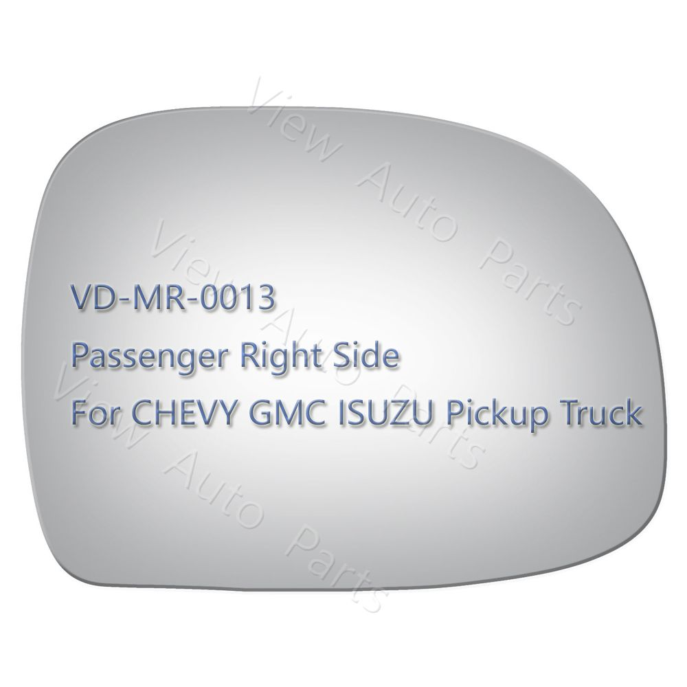 New Mirror Glass for CHEVY GMC ISUZU Pickup Truck Passenger Right Side