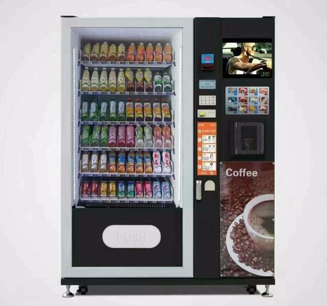 Snacks and Drinks Mini Combo Vending Machine coffee vending machine with coin with bill acceptor