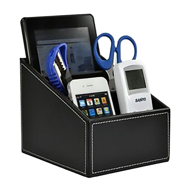 Luxury Pu Leather Remote Control/controller TV Guide/mail/CD Organizer/caddy/Toy/holder Home Organizer storage boxes bins