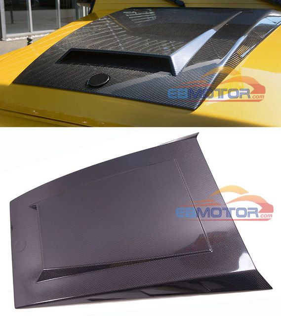 B Style REAL CARBON FIBER HOOD SCOOP HOOD VENT Hood Attachment FOR BENZ G CLASS W463 G63 G65 G500 G55 2012UP M133