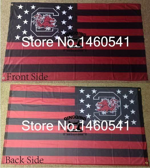 South Carolina Gamecocks Flag 3ft x 5ft Polyester NCAA Banner Flying Size No.4 144* 96cm QingQing Flag
