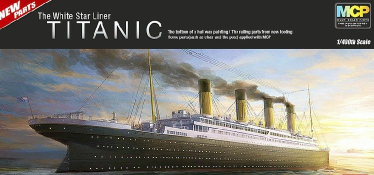 MOHS 14215 ACADEMY 1/400 The Titanic ship model luxury cruise ship  Assembly Model kits Modle building  scale  model