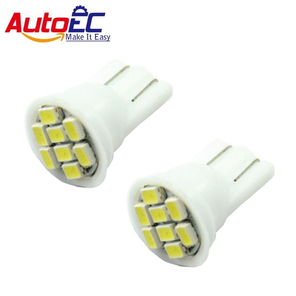 AutoEC T10 8smd 1206 194 168 192 W5w led Auto Led Car Light Clearance Wedge Lamp wholesales 1000pcs/lot #LB04