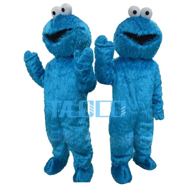 New Sesame Street Blue Cookie Monster Mascot Costume Halloween Party Dress