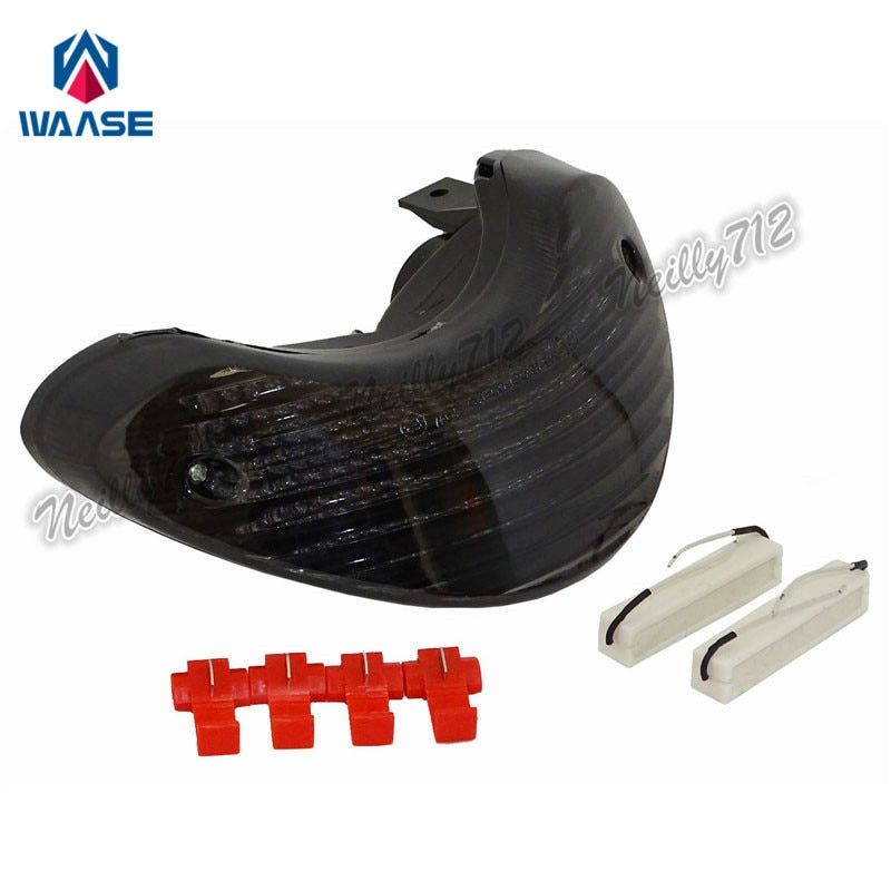 waase For Suzuki SV650 1999 2000 2001 2002 2003 E-Mark Rear Tail Light Brake Turn Signals Integrated LED Light