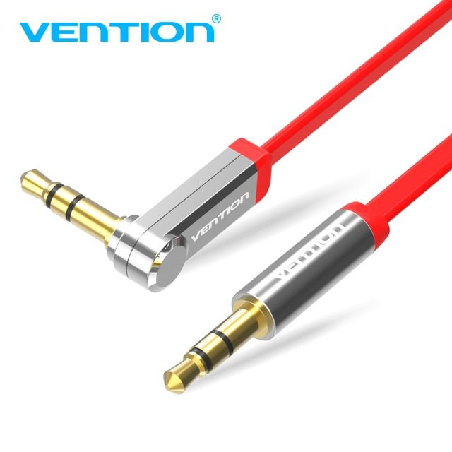 Vention 3.5mm Audio Cable Male to Male 90 Degree Right Angle flat Aux Cable for Car iphone headphone beats Speaker Aux Cord MP3