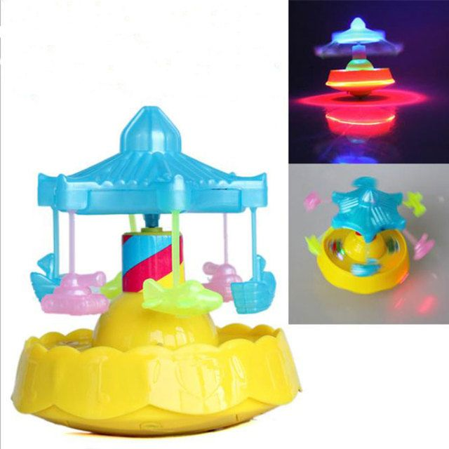 New Carousel Portable Lanterns Children Glowing LED Light Toy Music Electric Gyro HT3785