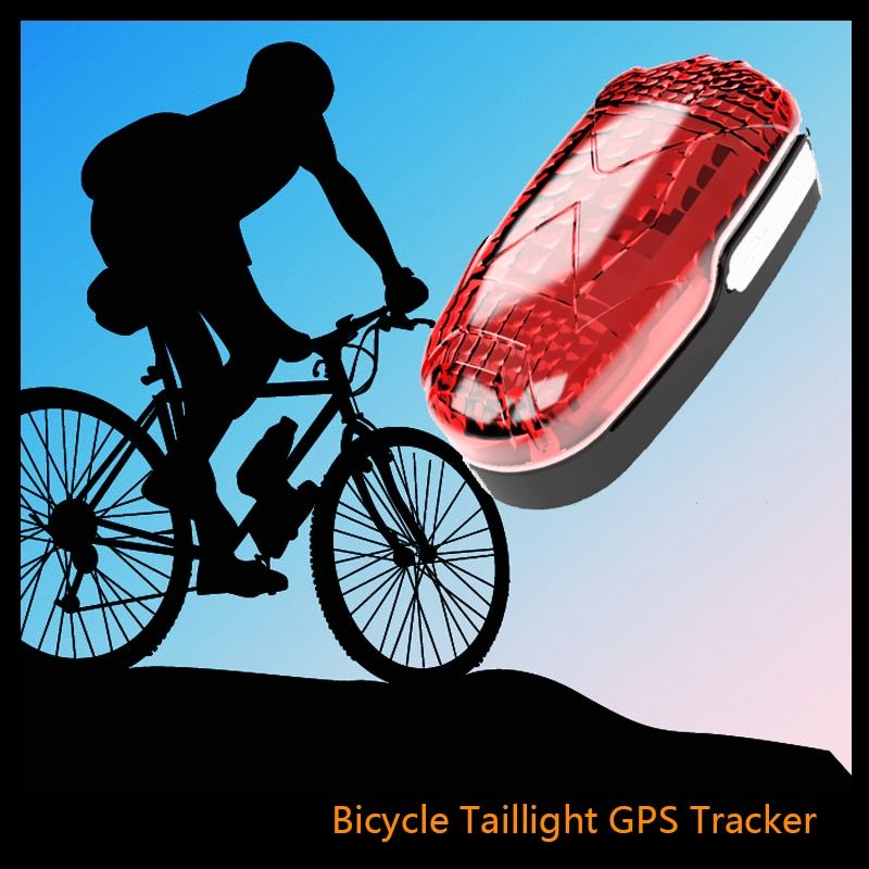 Bike GPS Tracker TK906 Waterproof LED Light GSM GPS Tracker Standby 300 Hours Listening GSM Movement Alarm Free APP Software