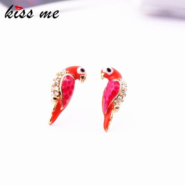 KISS ME Min order $10 Fashion accessories crystal xiangsi bird stud earring of girls earring Factory Wholesale