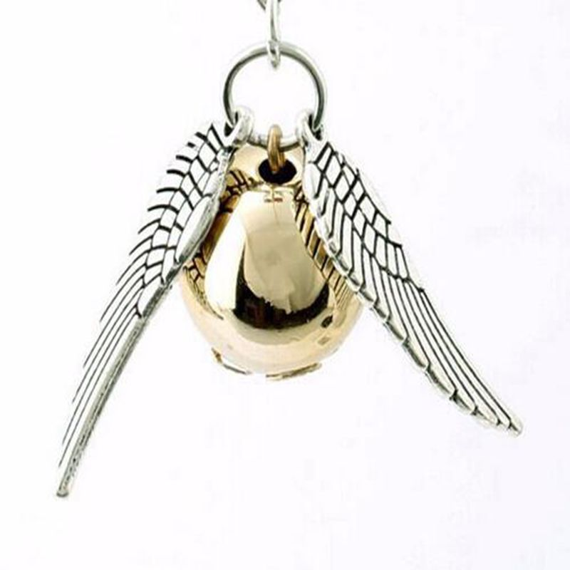 Harry Styles Gold Snitch Mens Chian Necklace Angel Wings Charm Golden Snitch Suspension Pendent Amulet