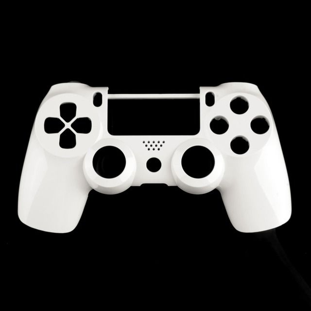 White Front Housing Shell Case Cover Replacement For Sony PlayStation 4 PS4 Wireless Controller Dual Shock 4