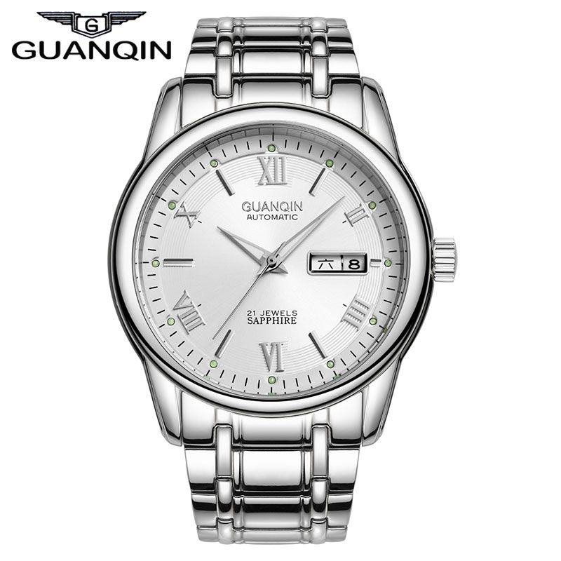 Luxury Brand Fashion Full Steel Wristwatch Clock Waterproof Men Business Automatic Mechanical Watches Free Shipping