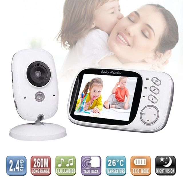 New 3.2'' LCD Wireless Night Vision Video Camera Baby Monitor Security Cameras Receiver with High-definition Digital Baby Camera