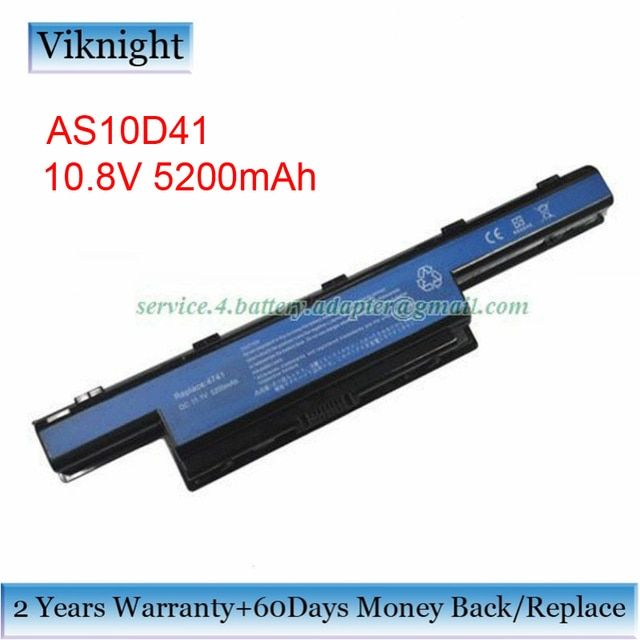 6-Cells AS10D41 Laptop Battery For Acer Aspire For Aspire 5742z 7741 5741 4551 As4451 Gateway AS10D41 Battery 10.8V 5200mAh