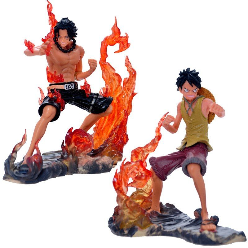 One Piece, Anime Figure, Toys One Piece Luffy And Ace Anime Figure Model Material Pvc Free Shipping