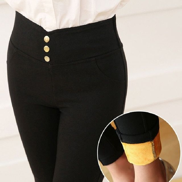 New Winter Leggings 2016 Fashion Ladies Warm Pencil Pants Velvet Thicken Women Leggings Stretch Slim Feet Pants Brand LG167