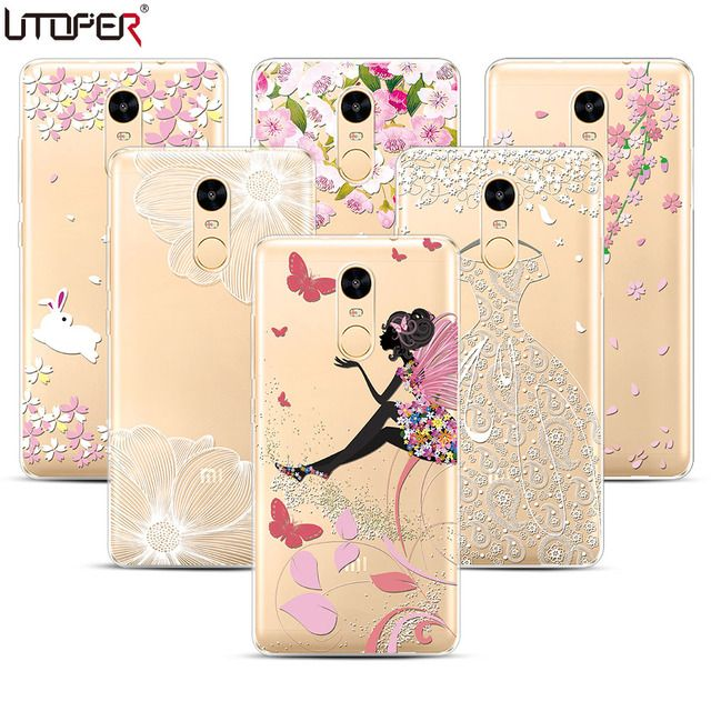 Soft Plastic Case For Xiaomi Redmi Note 4 Pro Case Coque Lace Girl For Redmi Note 4 Prime Case Fundas Transparent Silicon Cover