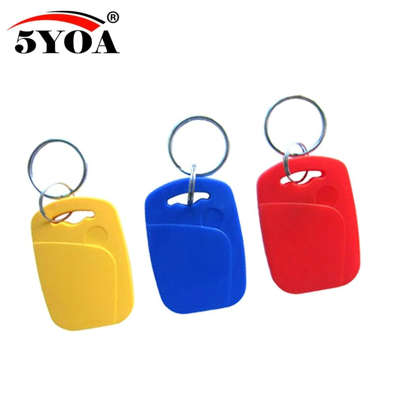 5pcs IC+ID UID Rewritable Composite Key Tags Keyfob Dual Chip Badge RFID 125KHZ T5577 EM4305+13.56MHZ Changeable Writable