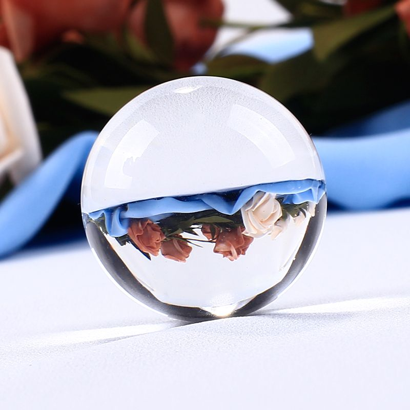 30mm White Clear Crystal Ball Glass Ball Globe Fengshui Miniature Oornaments For Gifts House Decoration Home Docor
