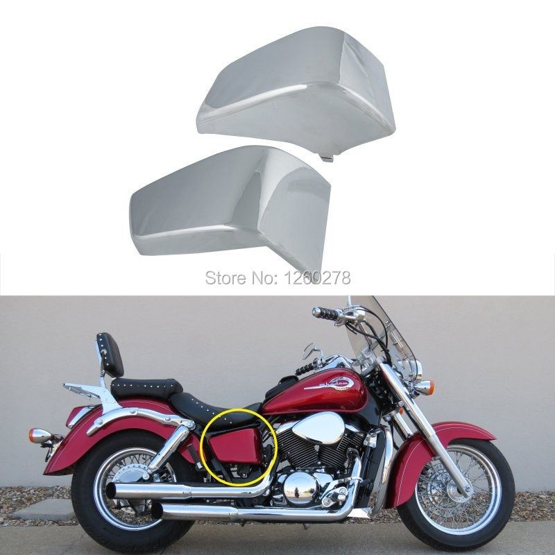 Battery Side Fairing Cover Metal Fit For Honda Shadow ACE VT750C VT400 1997-2003