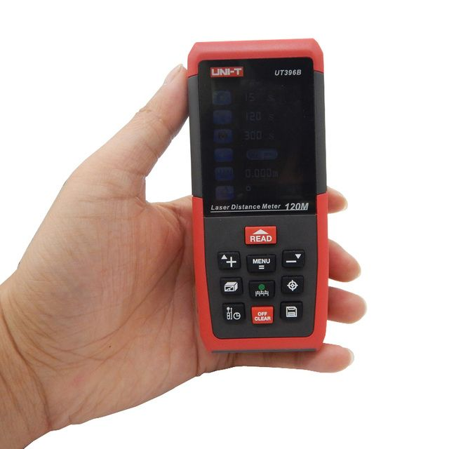 Laser Distance Meters UNI-T UT396B 120M Laser Range finder Digital range finder Measure Area/volume Tool with Camera function