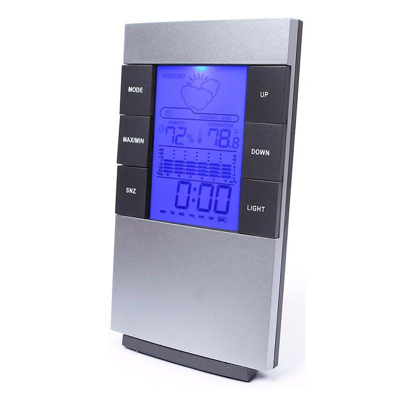 Multifunctional Digital Alarm Clock Desktop Table Clock Watch Temperature and humidity display LED Home electronic table clock