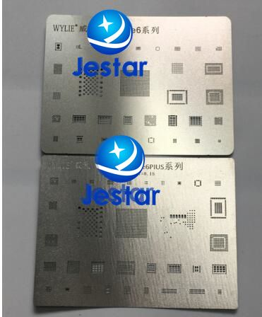 2pcs/lot BGA reballing reball template stencil for iphone 6  6plus ic chips